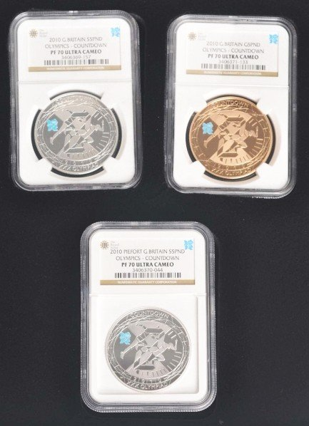 276: 2010 London Olympic Countdown Coin Set.