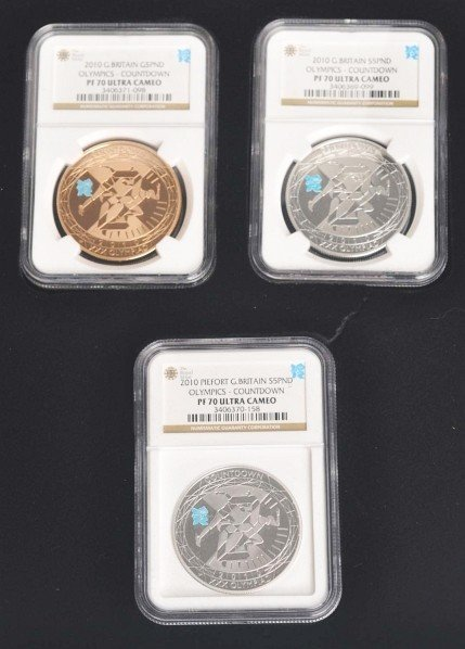 277: 2010 London Olympic Countdown Coin Set.