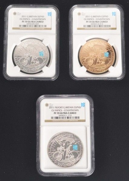 278: 2010 London Olympic Countdown Coin Set.