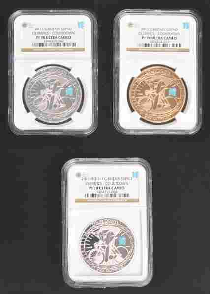 279: 2010 London Olympic Countdown Coin Set.
