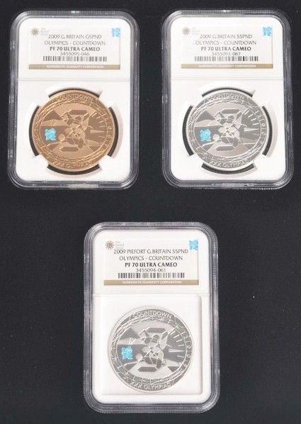 280: 2010 London Olympic Countdown Coin Set.
