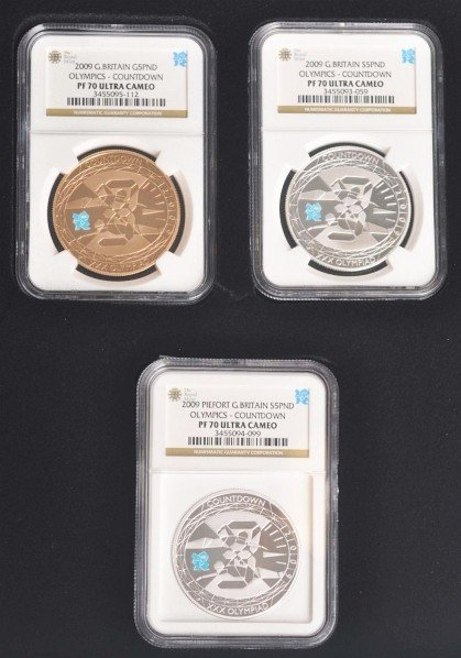 281: 2010 London Olympic Countdown Coin Set.