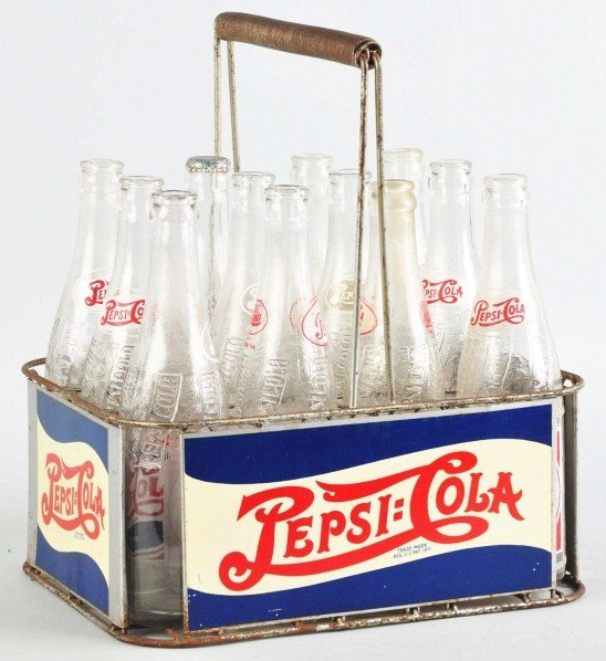5: Pepsi-Cola 12-Pack Carrier with Bottles.