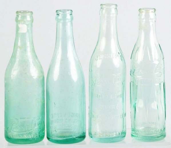 8: Lot of 4: Pepsi-Cola Straight Sided Bottles.
