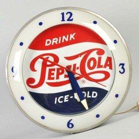 Pepsi-Cola Electric Light-Up Clock.