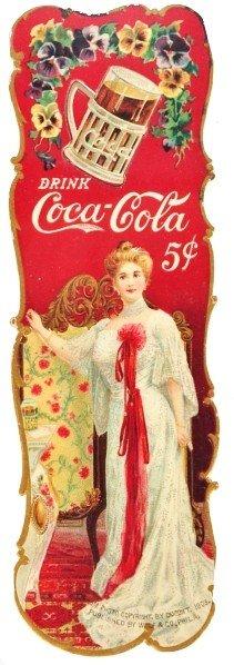 14: Cardboard Coca-Cola Bookmark.