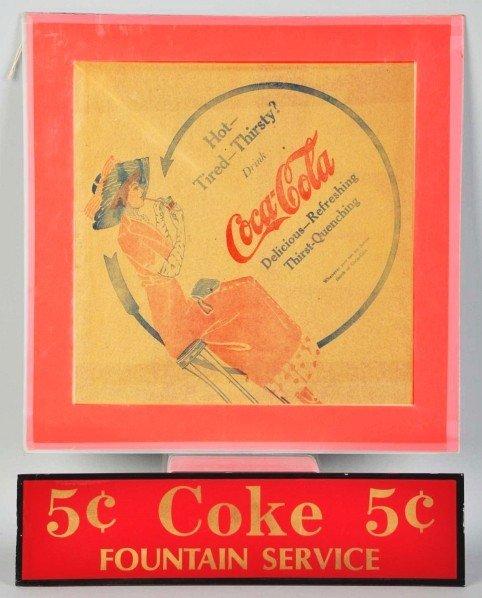 15: Early Coca-Cola Rice Paper Napkin.