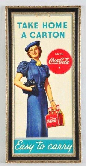18: Cardboard Coca-Cola Poster.