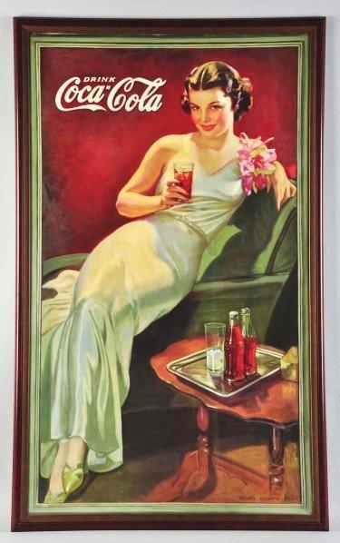 19: Cardboard Coca-Cola Vertical Poster.