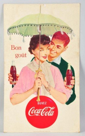 21: Cardboard French-Canadian Coca-Cola Poster.