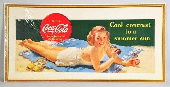 24: Large Horizontal Coca-Cola Poster.
