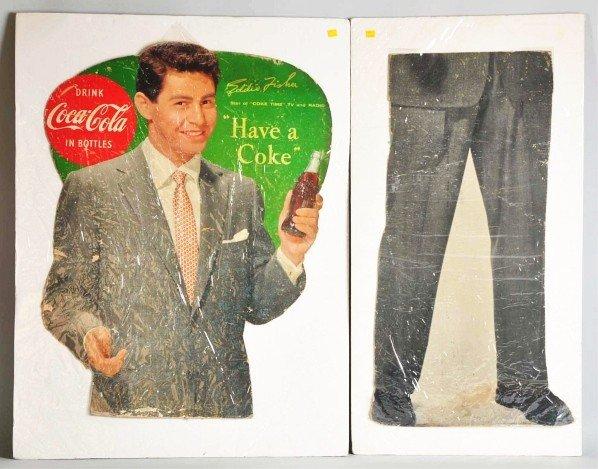 38: Cardboard Coca-Cola Eddie Fisher Cutout.