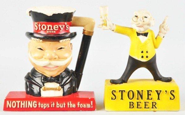 247: Lot of 2: Stoney's Beer Advertising Figures.