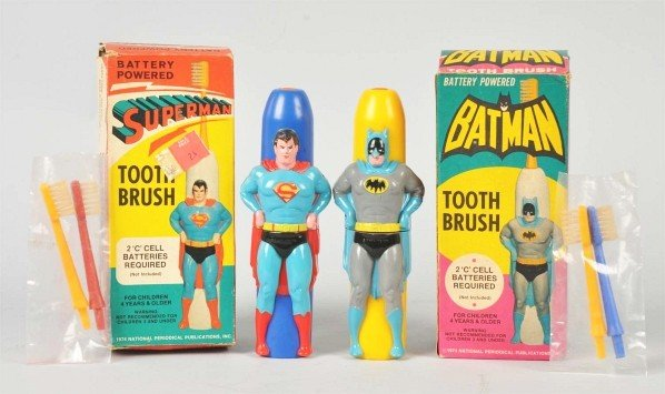 704: Lot of 2: Battery-Powered Superhero Toothbrushes.