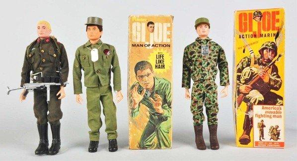 707: Lot of 3: Hasbro GI Joe Figures.