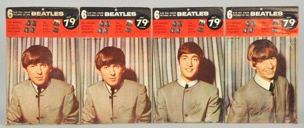 710: Lot of 4: Vintage Beatles Color Pictures.