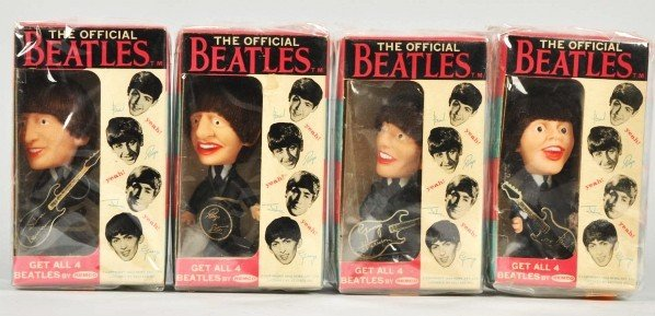 712: Set of Vintage Remco Beatles Dolls.