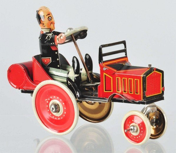 736: Tin Litho Marx Coo Coo Whoopee Car Wind-Up Toy.