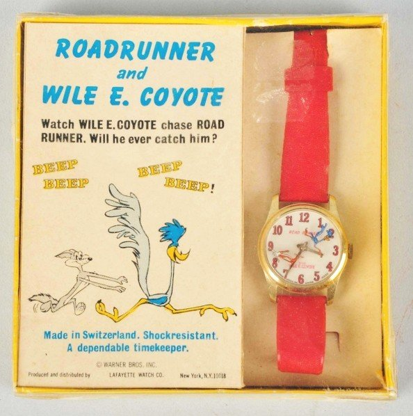 971: WB Roadrunner & Wile E. Coyote Wrist Watch.