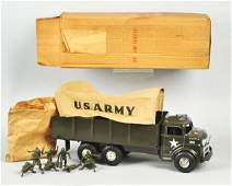 1315 Pressed Steel Marx US Army Transport Truck Toy