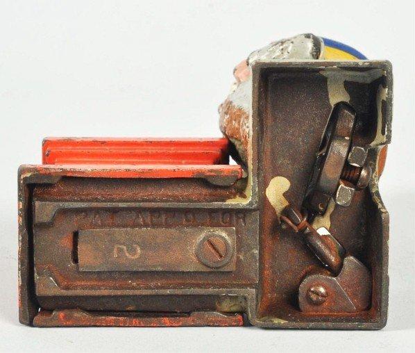 1560: Cast Iron Santa Claus Mechanical Bank. - 3