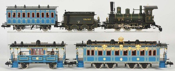 1742: Marklin 1-Gauge Bavarian Royal Court Train Set. - 2