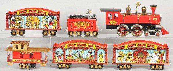 1915: Pride Lines Walt Disney Mickey Circus Train Set.