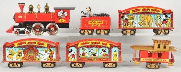 1915: Pride Lines Walt Disney Mickey Circus Train Set. - 2