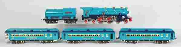 1919: Lionel Lines Blue Comet Passenger Train Set.