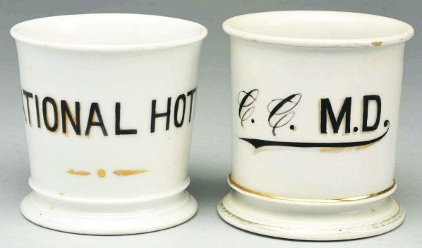 16: Lot of 2: Shaving Mugs.