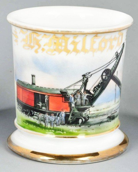53: Steam-Powered Railway Shovel Shaving Mug.