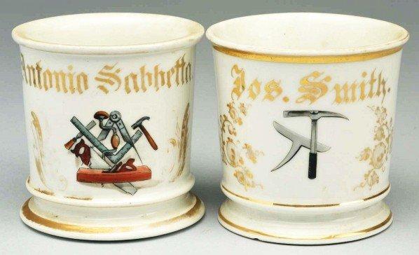 75: Lot of 2: Carpenter Shaving Mugs.