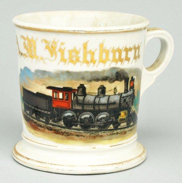 89: Locomotive Shaving Mug.