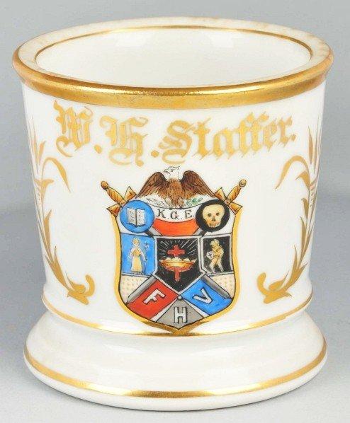 93: Knights of the Golden Eagle Fraternal Shaving Mug