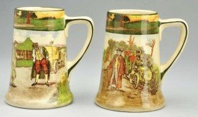 Lot Of 2: Early Royal Doulton Handled Mugs.