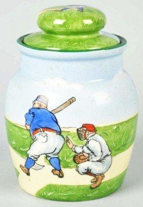 Porcelain Tobacco Jar.
