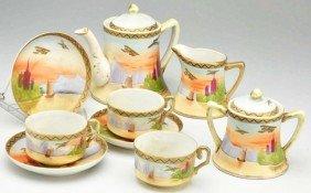 Hand-painted Nippon 11-Piece Tea Set.