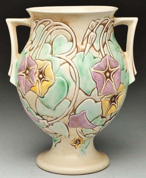291: Roseville Morning Glory Vase.