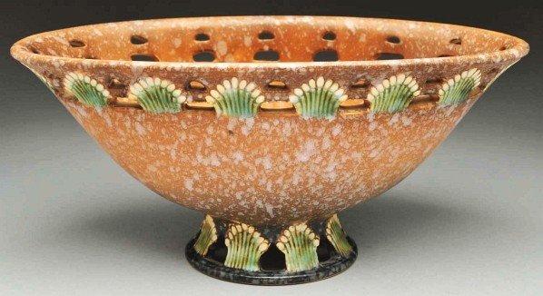 293: Roseville Ferella Center Compote Pedestal Vase.
