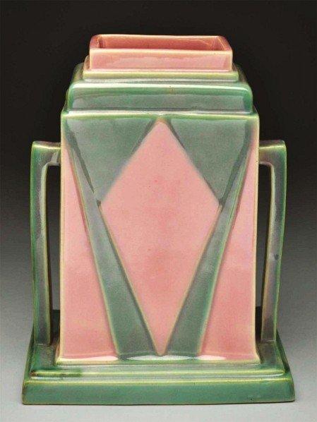 """298: Roseville Futura """"The Juke Box"""" Vase."""