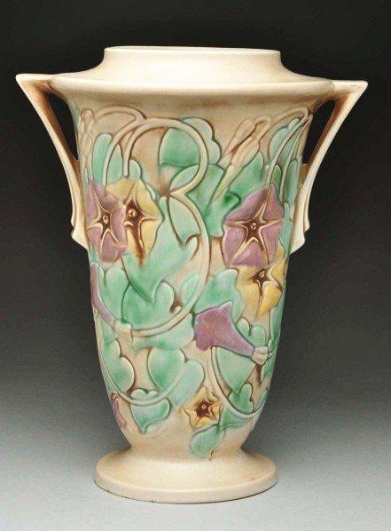 305: Roseville Morning Glory Vase.