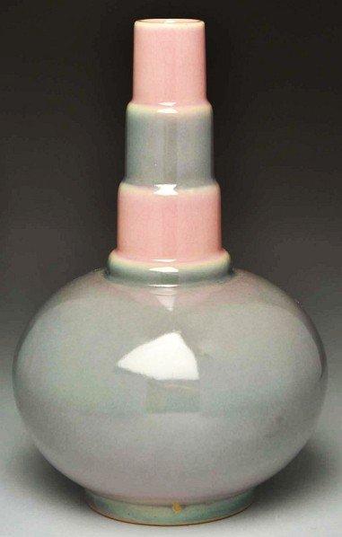 """308: Roseville Futura Deco """"The Bottle"""" Vase."""