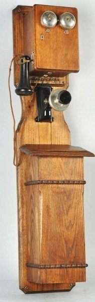 702: Kellogg Tandem Wall Telephone. - 2