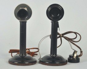 Lot Of 2 Western Electric Microphone Candlesticks