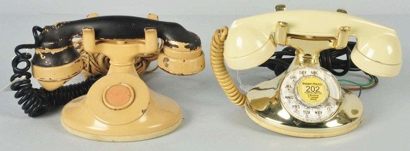 772: Lot of 2: Western Electric Painted 202 Telephones