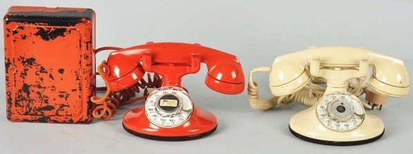 773: Lot of 2: Colored Western Electric 202 Telephones
