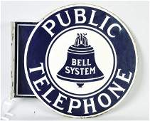 846: Bell System Public Telephone Flange Sign.