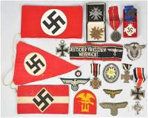 1082: German Nazi Military Medals, Badges, & Patches.