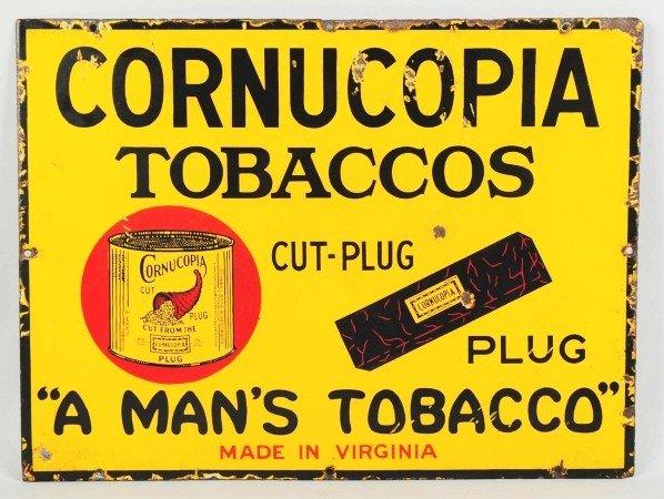2: Porcelain Cornucopia Tobaccos Sign.