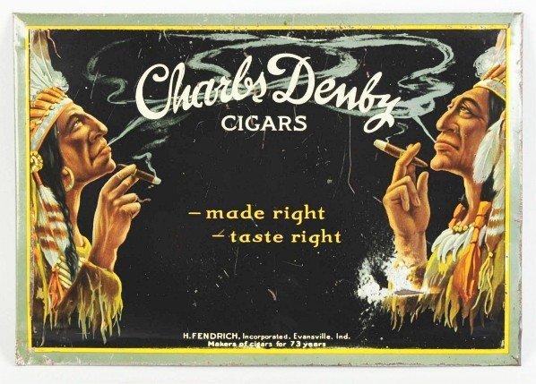 3: Tin Charles Denby Cigars Sign.